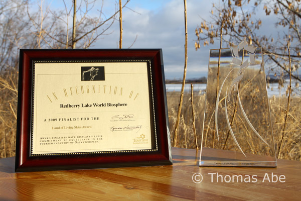Redberry Lake Biosphere Reserve honoured with Land of Living Skies Award