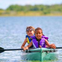 Kayaking Redberry Lake Regional Park
